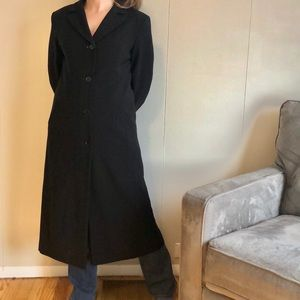 Gallery petite black trench coat